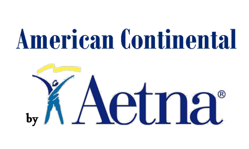 Blue 'American Continental by Aetna' logo.
