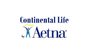 Blue 'Continental Life by Aetna' logo.