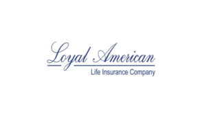 Dark blue 'Loyal American Life Insurance Company' logo.