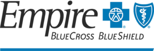 Blue 'Empire Blue Cross Blue Shield' logo.